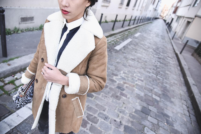 Lainee Manteau Des Femme Peau Cotonniers Comptoir S0TZw