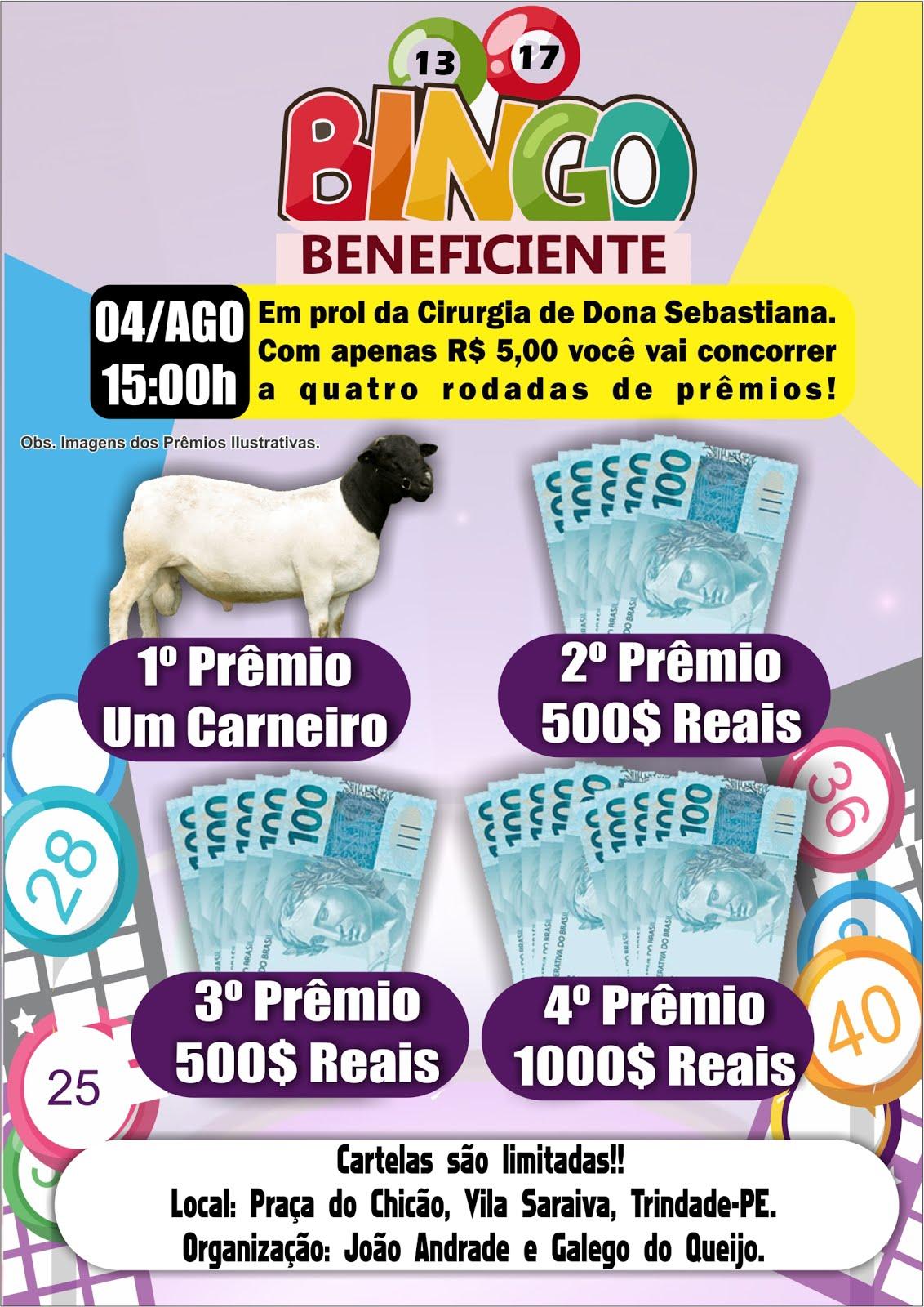 BINGO DIA 04 DE AGOSTO