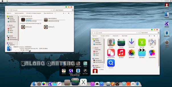 Screenshot Tema iOS8 Skin Pack Windows 7