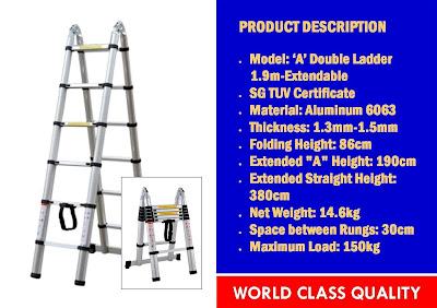 tangga telescopic aluminium