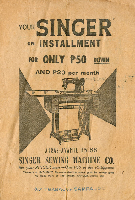Pinoy Kollektor: 35. SINGER SEWING MACHINE in the Philippines