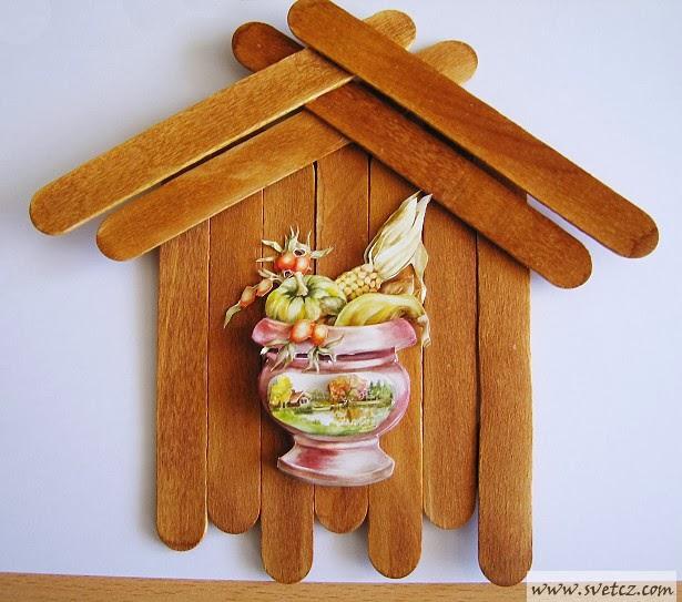 Декор на основе медицинских шпателей