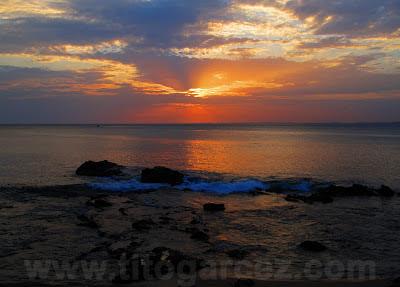 Pôr-do-Sol na baía de Todos os Santos, em Salvador