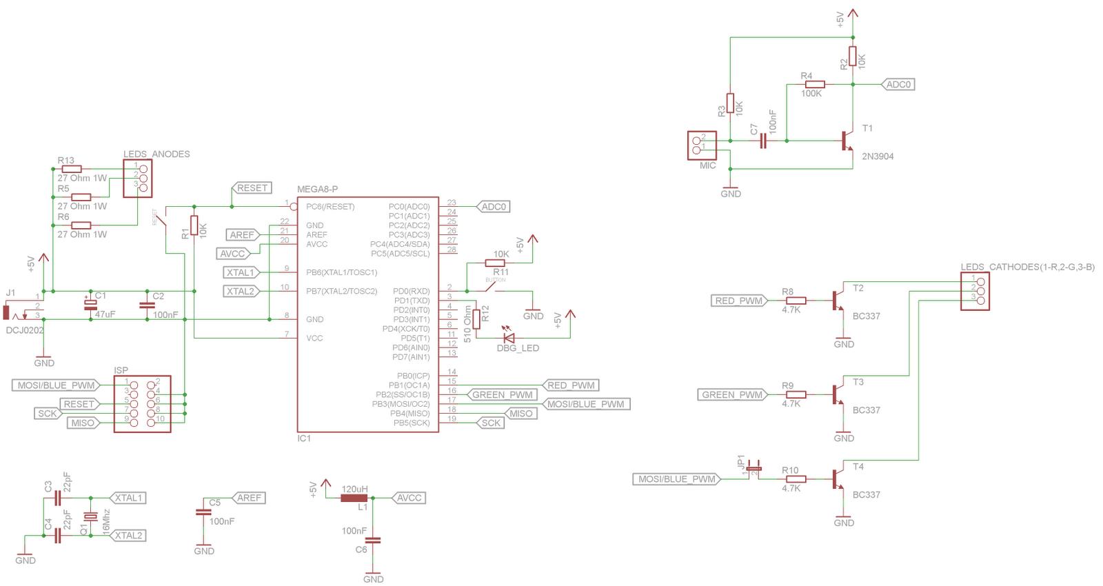 схема микроконтроллер настроения rgb