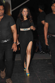 Madhu Shalini Picture Gallery in Black Long Dress at Satya 2 Movie Audio Release Function ~ Celebs Next