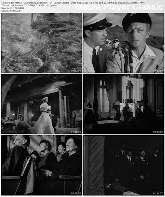 Secuancias de Cine clásico: La Dama de Shanghai | 1947