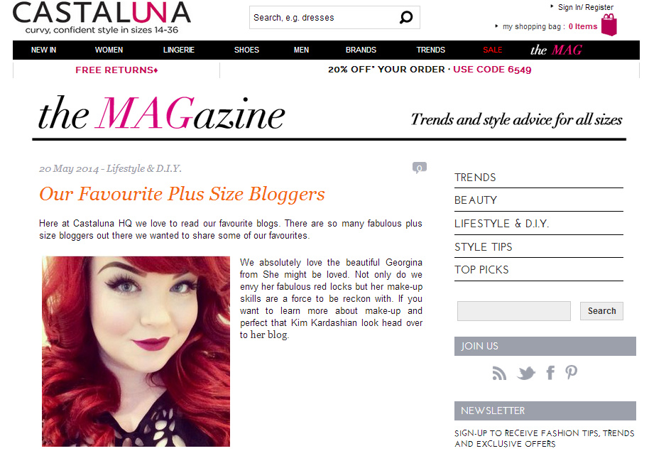 Plus Size Sheffield Blogger, Georgina Grogan, She Might Be Loved
