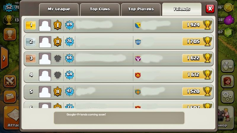 Invite teman join clan