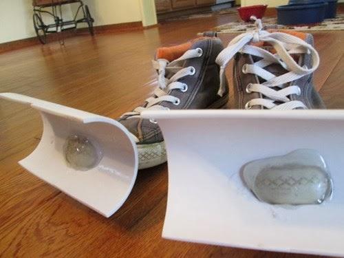 Des baskets mini chasse-neige
