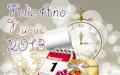 Ilustración con mensaje de Feliz Año Nuevo 2013