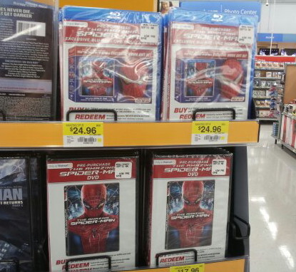The Amazing Spider-Man Blu-Ray DVD UltraViolet Limited Edition Mask Gift Set Pre-Purchase at Walmart