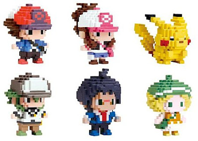 Pokemon Charactor Figure Game Dot Series Cheren N Bianca Hilbert Hilda Pikachu Dec 2011 PokeCenJP