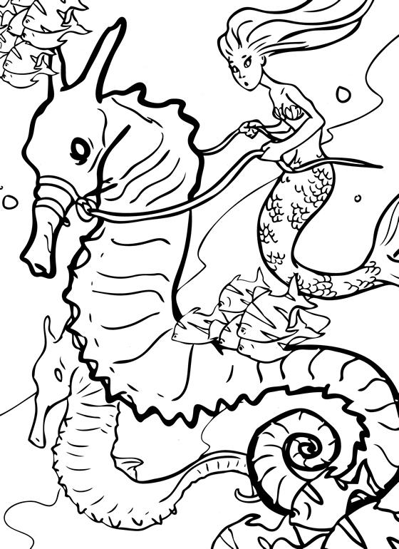 Mermaid Coloring Pages Waverlee FinFriends  - printable mermaid coloring pages