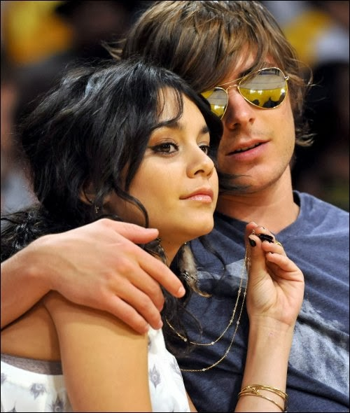 How long did zac efron and vanessa hudgens date in Perth