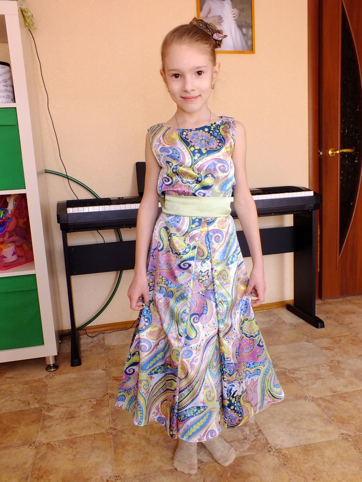 Сшить для дочери платье 38