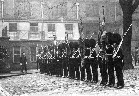 Royal Munster Fusiliers Regimental Colours 1st Battalion Fringed flag
