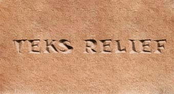 Efek Relief Teks Dengan Photoshop