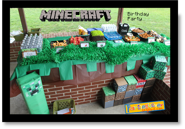 Parties4ever minecraft party they got mixed up while getting passed outif i had to do it over again id mail them pre cut and have the kids solutioingenieria