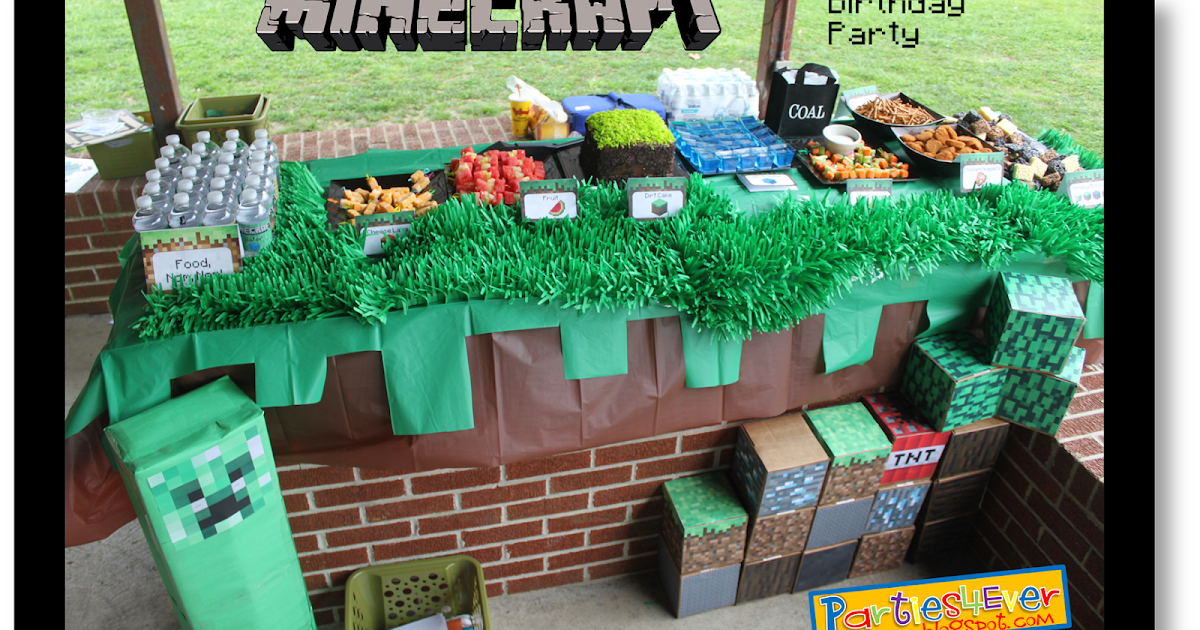 Printable Minecraft Cake Coloring Pages