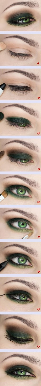 smokey eye shadow makeup idea for ladies