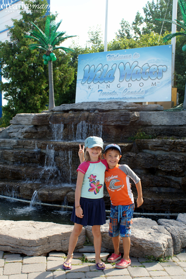 Arriving at Wild Water Kingdom in Brampton, Ontario