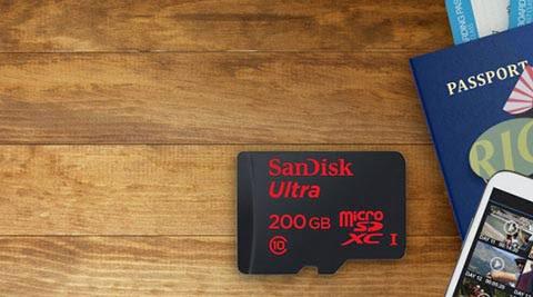 200GB SanDisk Ultra microSDXC UHS-I card