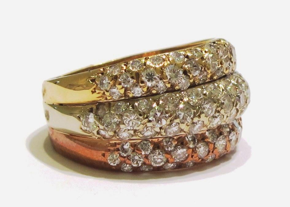 Alan Friedman Company Beverly Hills Jewelry TriGold Welded Diamond