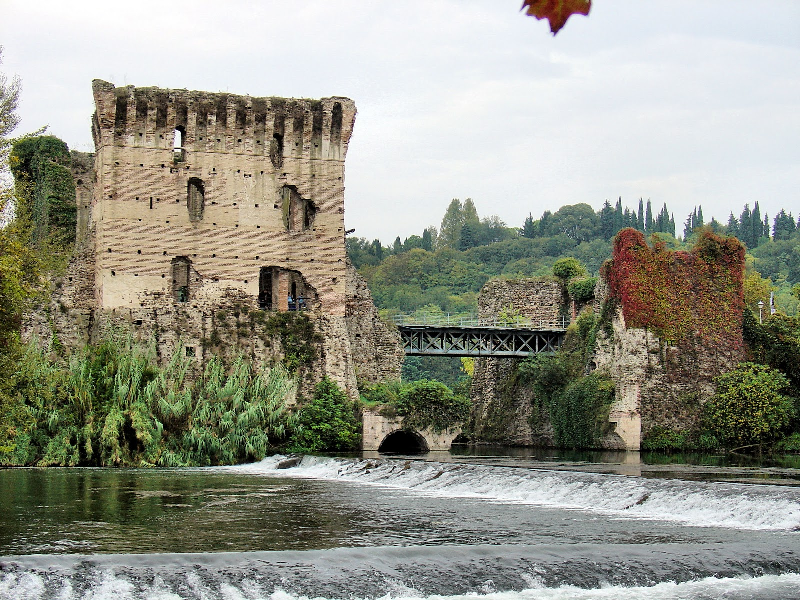 Visconti Bridge and Dam in Borghetto, Italy
