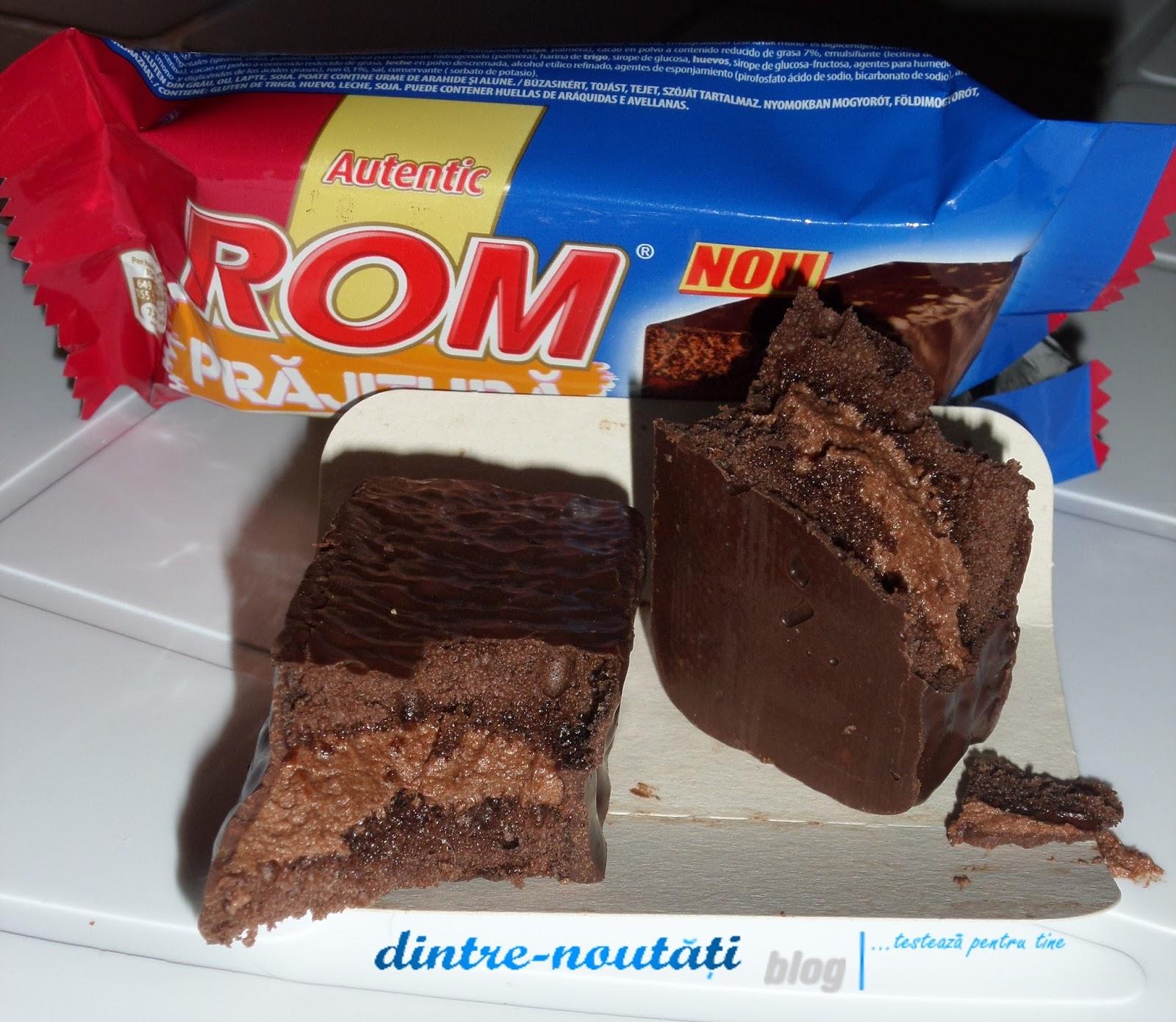 Prăjitură cu cremă de rom și glazură cu cacao