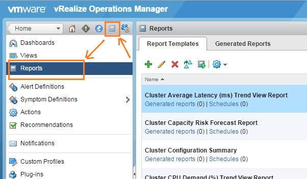 vxpress using custom reports to publish dashboards in vrealize