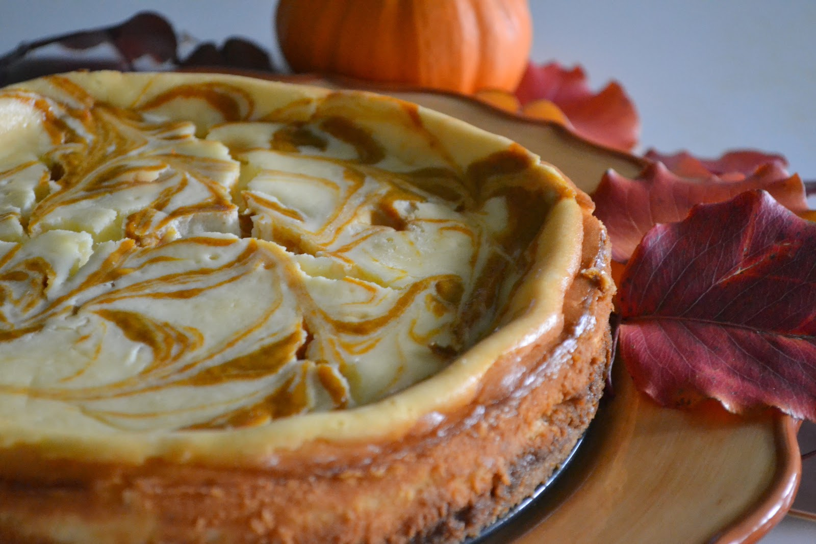 Candy Girl: Pumpkin Swirl Cheesecake with Biscoff Crust