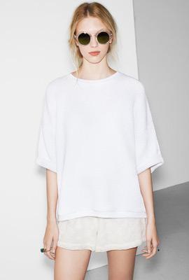 Zara trf verano 2013 mono corto y camiseta oversize