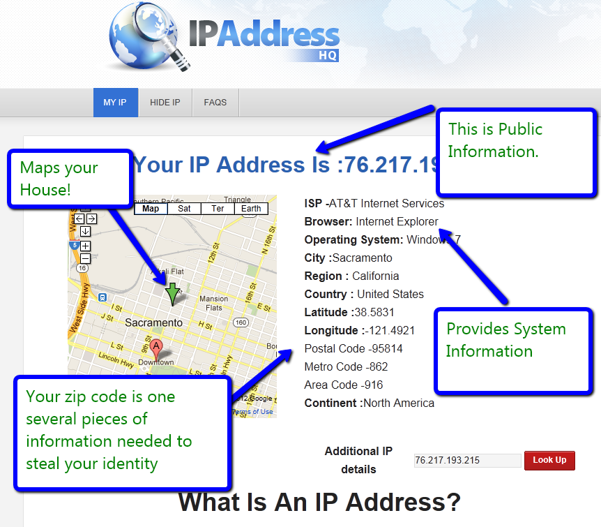 Lookup IP Address Location