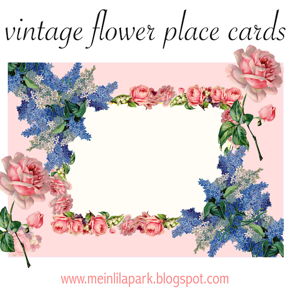 Free Printable Vintage Flower Place