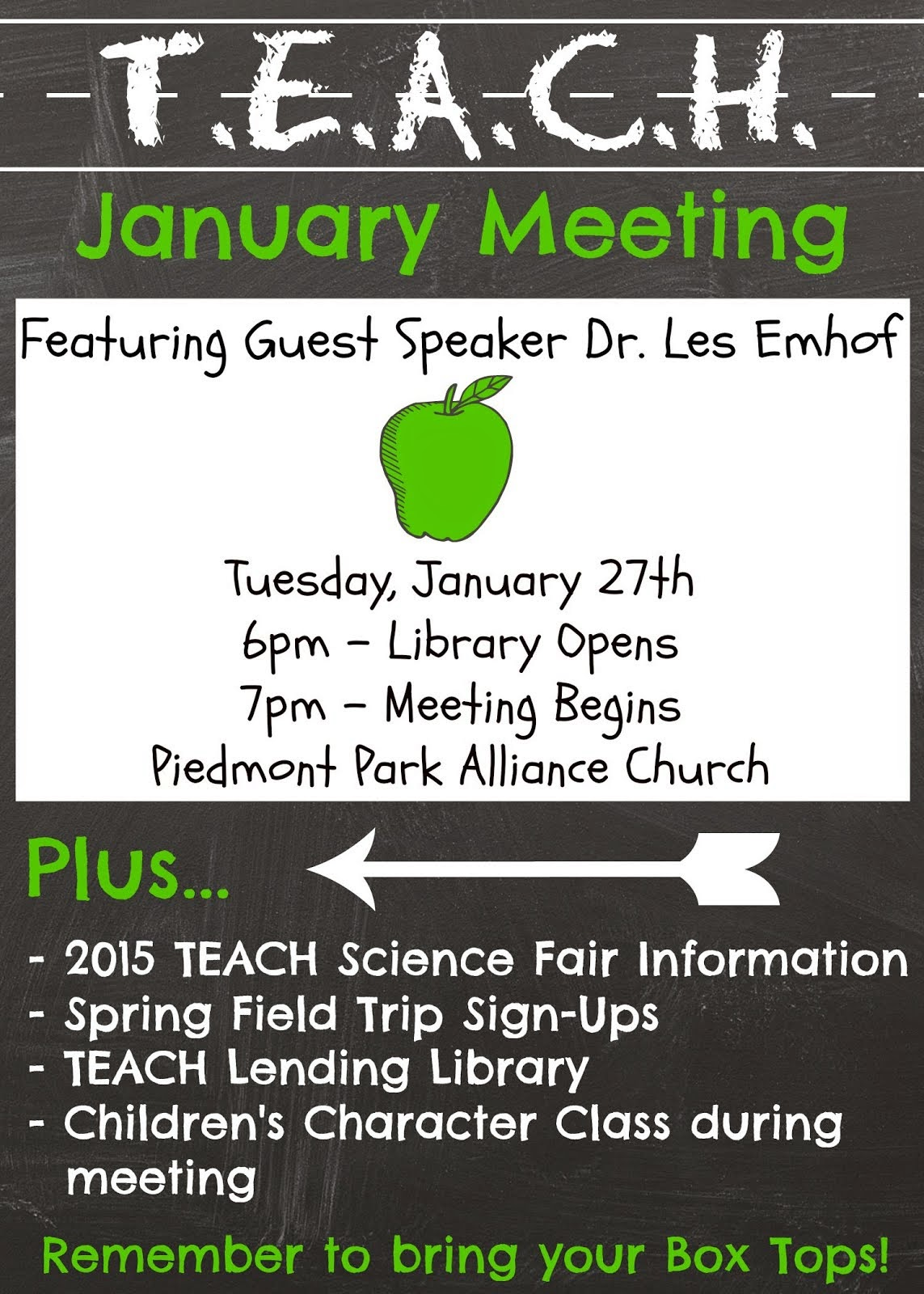 Join us for the next TEACH Meeting: