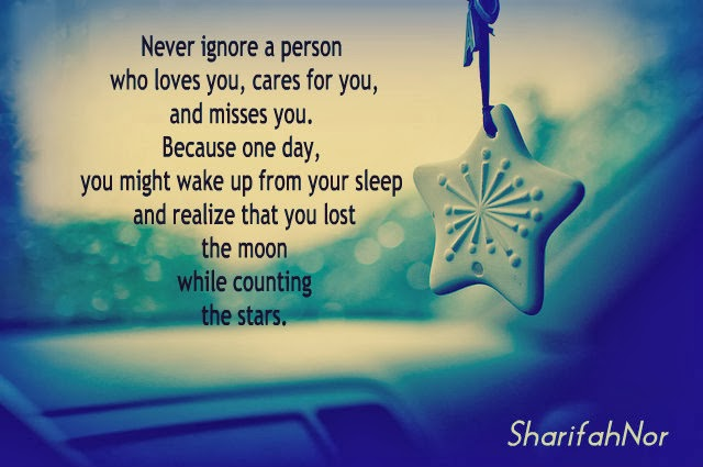 how to ignore a person you love