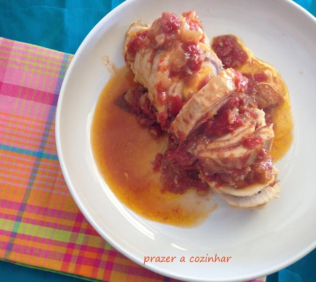 prazer a cozinhar - peito de frango enrolado