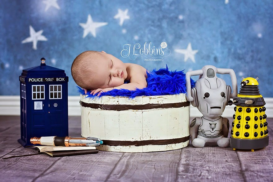 #18 Baby Doctor Who - 22 Geeky Newborns Who Are Following In Their Parents' Nerdy Footsteps
