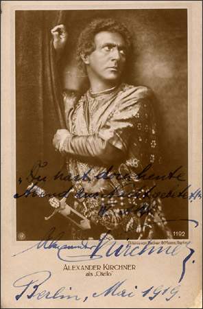 GREAT GERMAN TENOR ALEXANDER KIRCHNER (1880-1948) CD