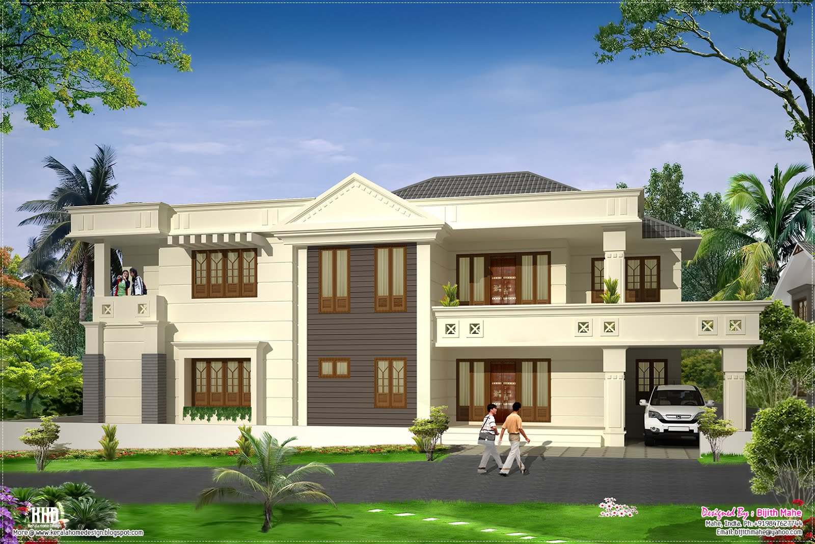 Modern luxury home design - Kerala home design and floor plans