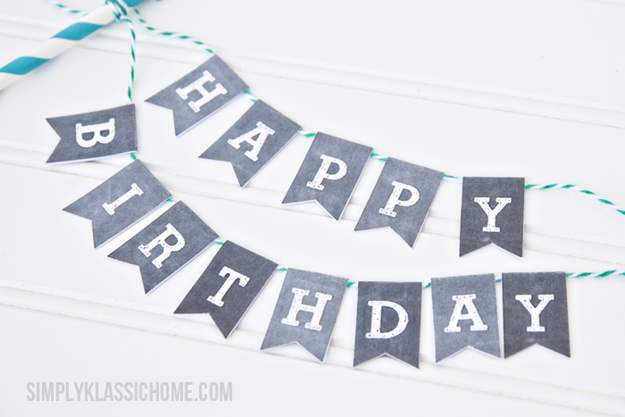 Printable Chalkboard Letters Cake BuntingYellow Bliss Road