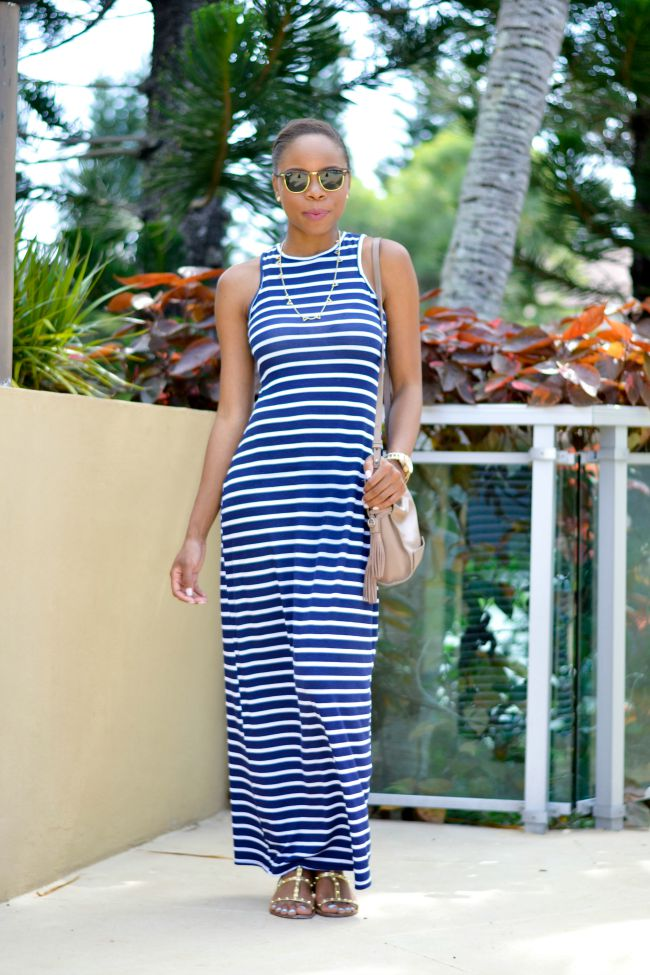 Striped Maxi Dress | Summer Outfits
