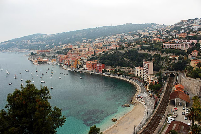 coastal main road in Monaco, France