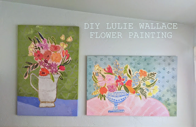 how to DIY a Lulie Wallace abstract flower painting