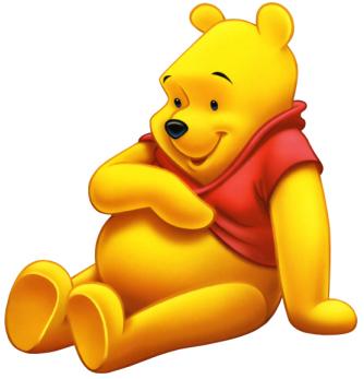 Winnie Pooh sentado