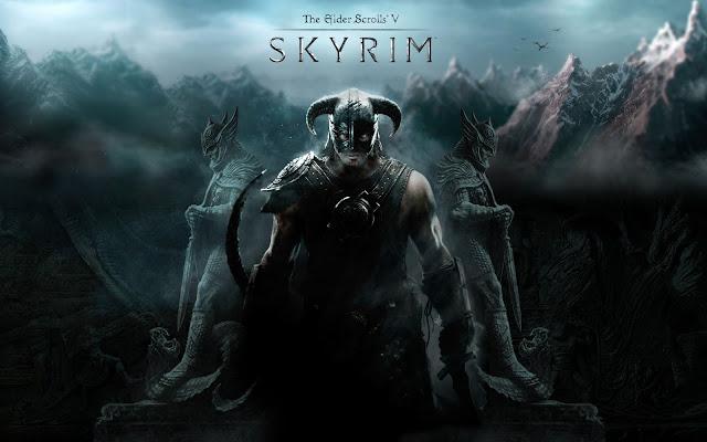 Vencedores e novos anuncios na VGA(Video Game Awards) Skyrim_wallpaper_by_revan1337-d3adoed