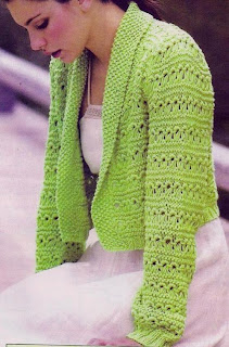 Suéter verde abierto