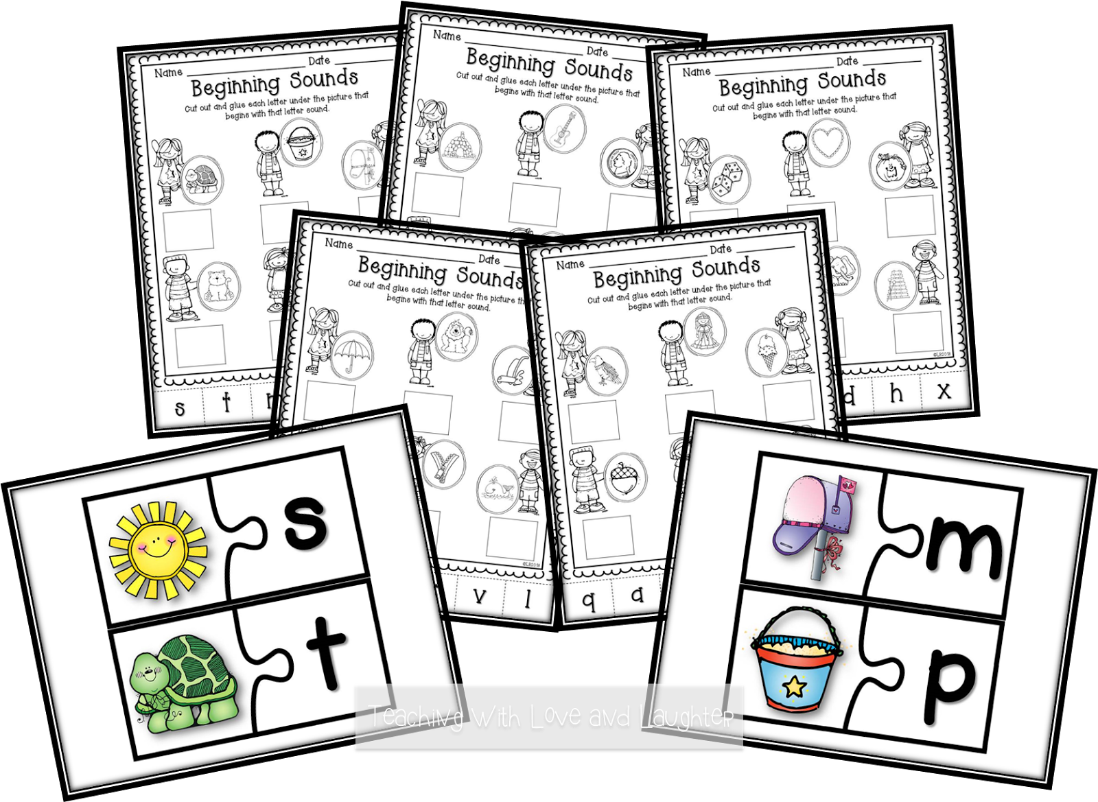 Worksheet Beginning Sounds Activities teaching with love and laughter kindergarten literacy activities beginning sounds