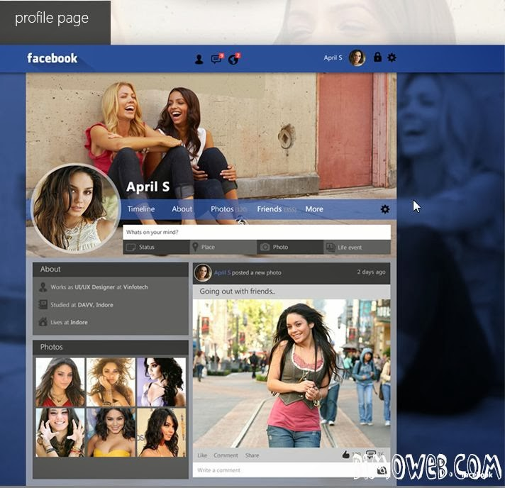 Facebook Layout Redesign Concept 2014