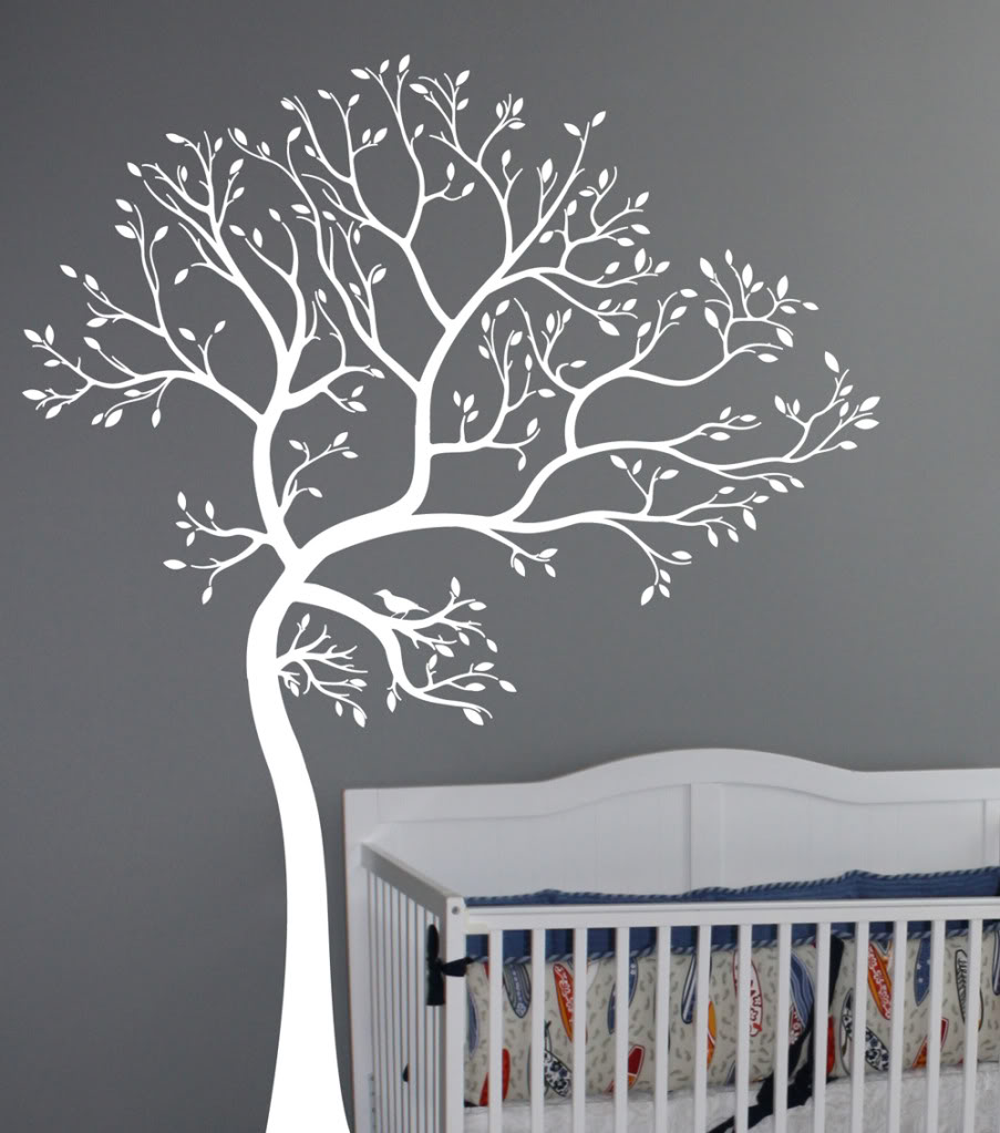 Limelight interiors interior decorating home staging for Black and white tree mural